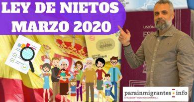 ULTIMA HORA: Novedades en La Ley de Nietos Marzo 2020 [VIDEO]